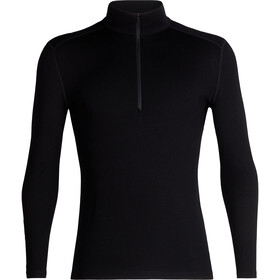 Icebreaker 260 Tech LS Half Zip Shirt Men, black